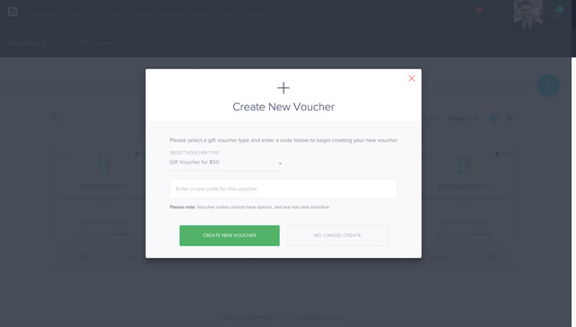 Creating Vouchers In Your Admin Is Very Easy Too. Simply Create A  Transaction To Accept Payment Or Manually Add A One Off Code, For Any Other  Circumstance.  Creating Vouchers
